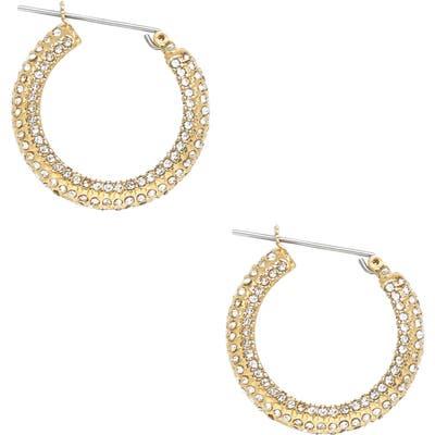 Ettika Crystal Embellished Hoop Earrings