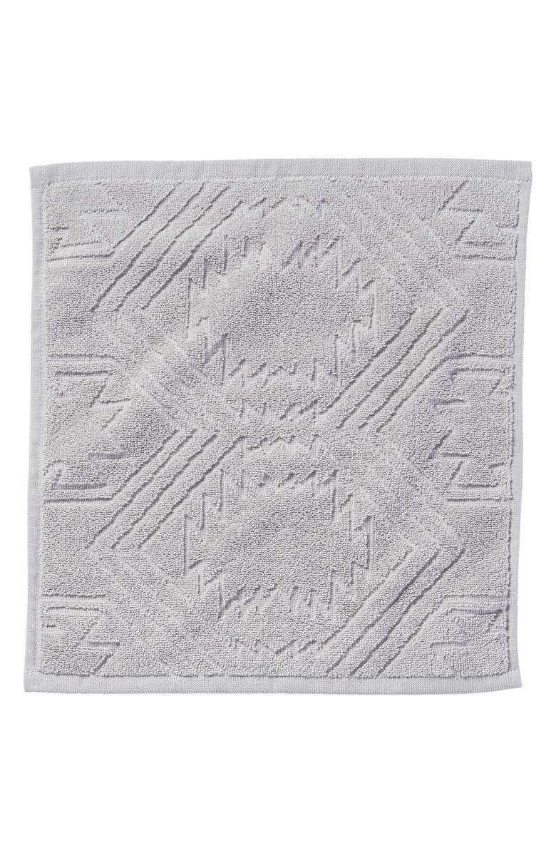 PENDLETON White Sands Washcloth, Main, color, GREY