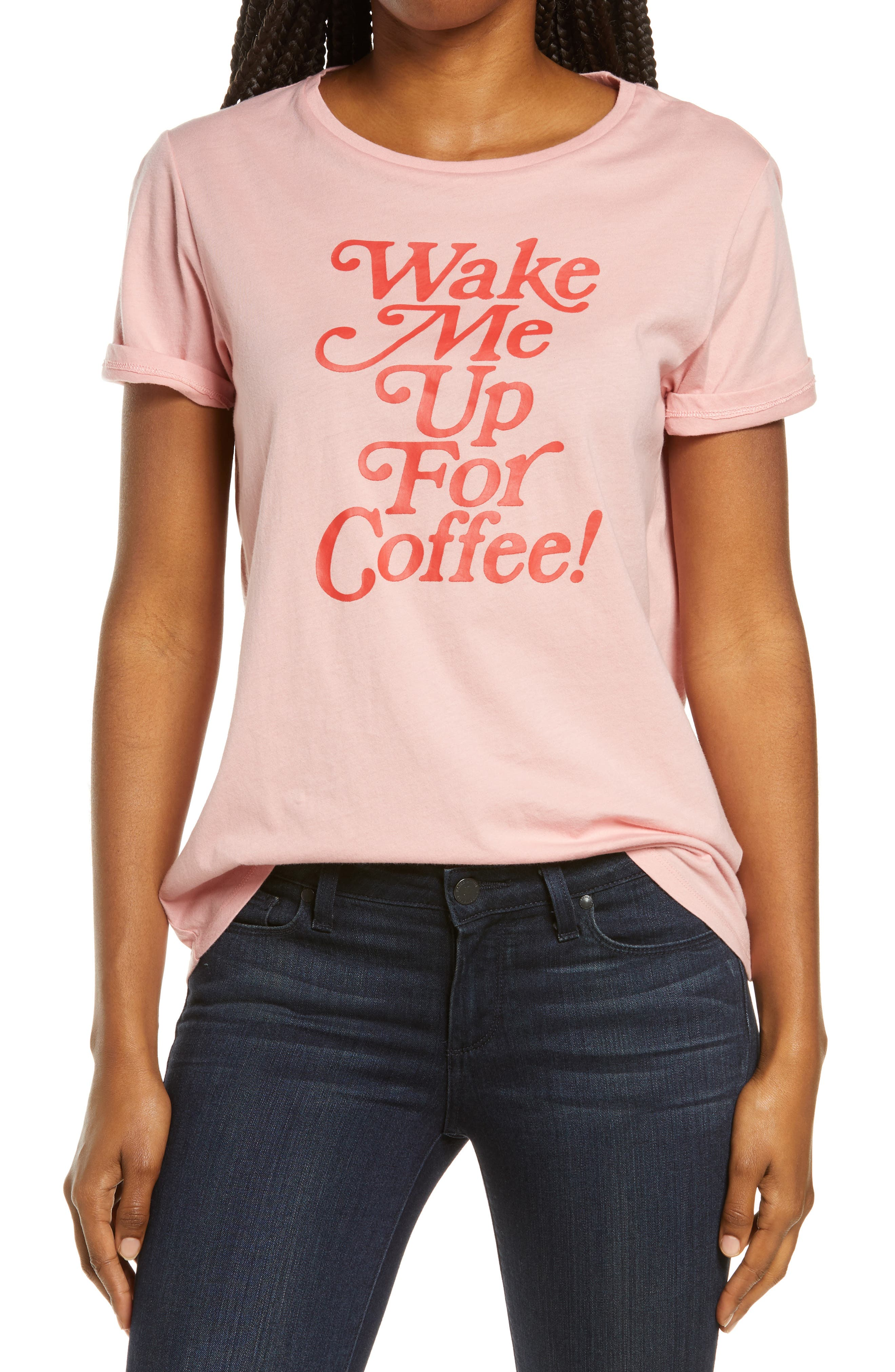 Women's Ban. do Wake Me Up For Coffee Classic Graphic Tee