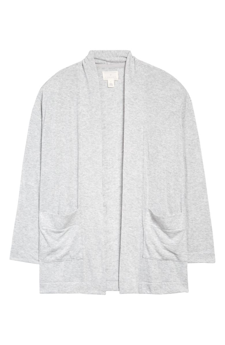 CASLON<SUP>®</SUP> Open Front Cardigan, Main, color, GREY LIGHT HEATHER