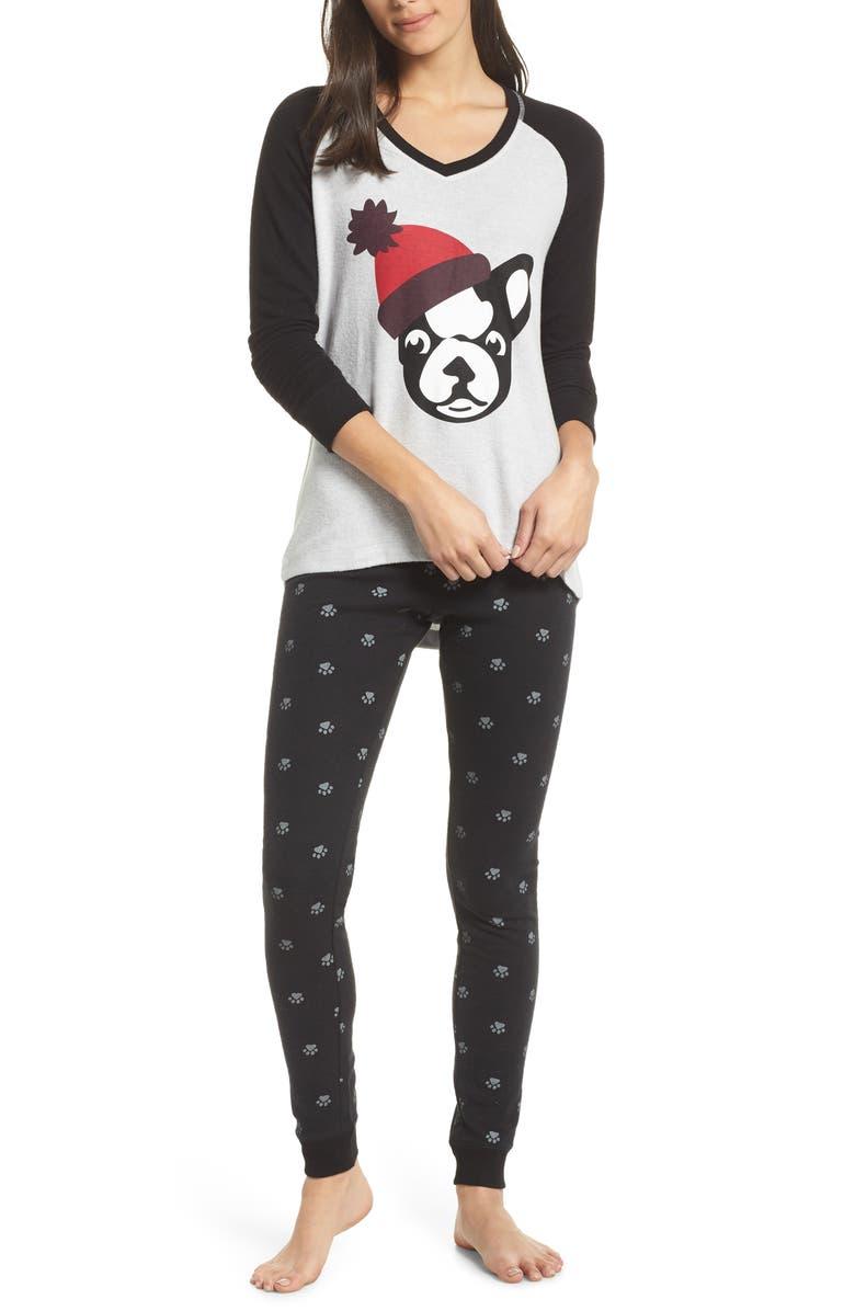 MAKE + MODEL Holiday Pajamas, Main, color, 001