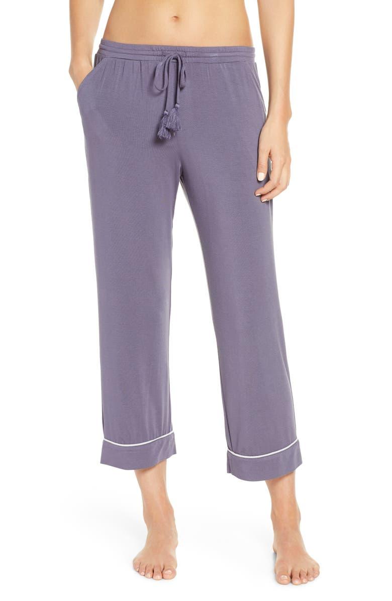 NORDSTROM LINGERIE Moonlight Crop Pajama Pants, Main, color, 021