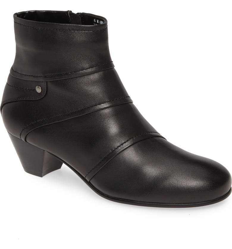DAVID TATE Harbor Bootie, Main, color, BLACK LEATHER