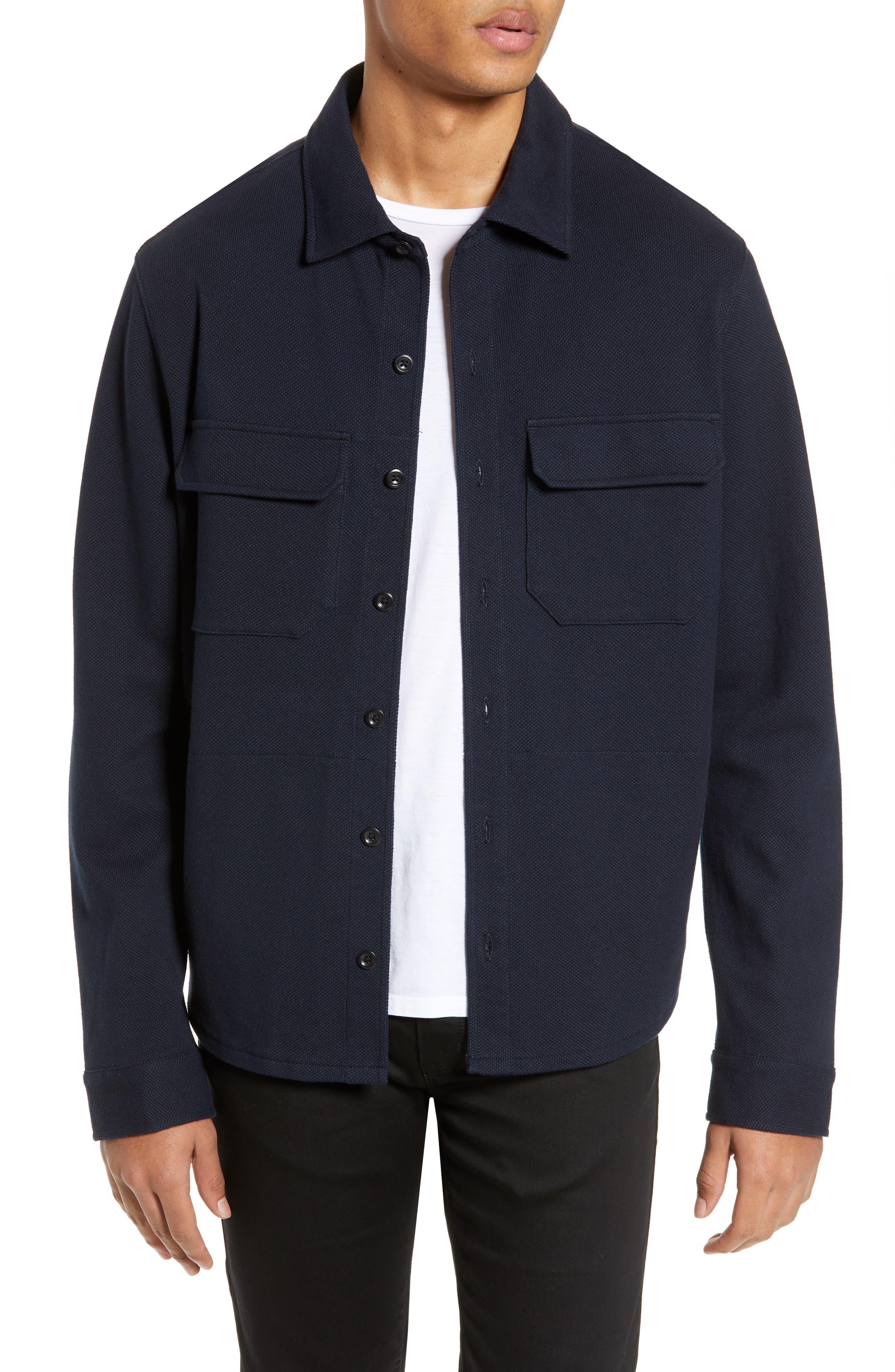 Slim Fit Shirt Jacket, Main, color, COASTAL