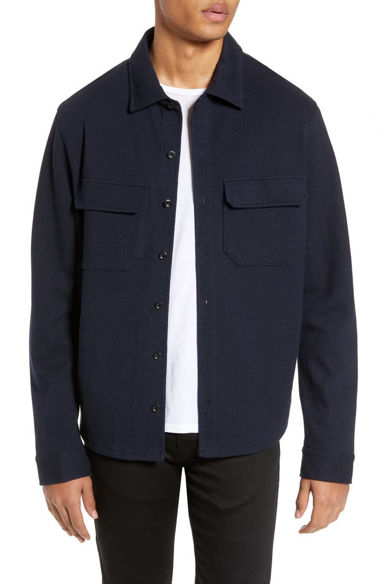 VINCE Slim Fit Shirt Jacket, Main, color, 403