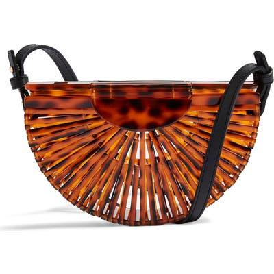 Topshop Cancun Acrylic Crossbody Bag - Brown