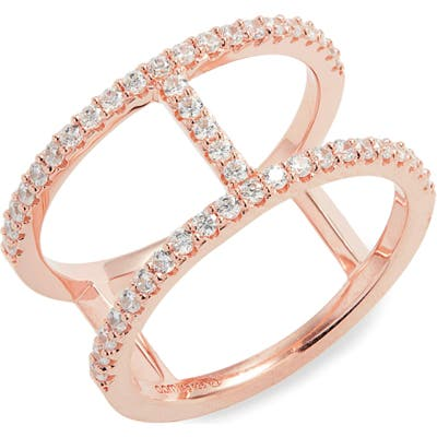 Apm Monaco Croisette Pave Double Band Ring