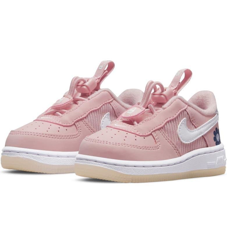 NIKE Air Force 1 Toggle SE Sneaker, Main, color, PINK GLAZE/ WHITE/ PURPLE DAWN