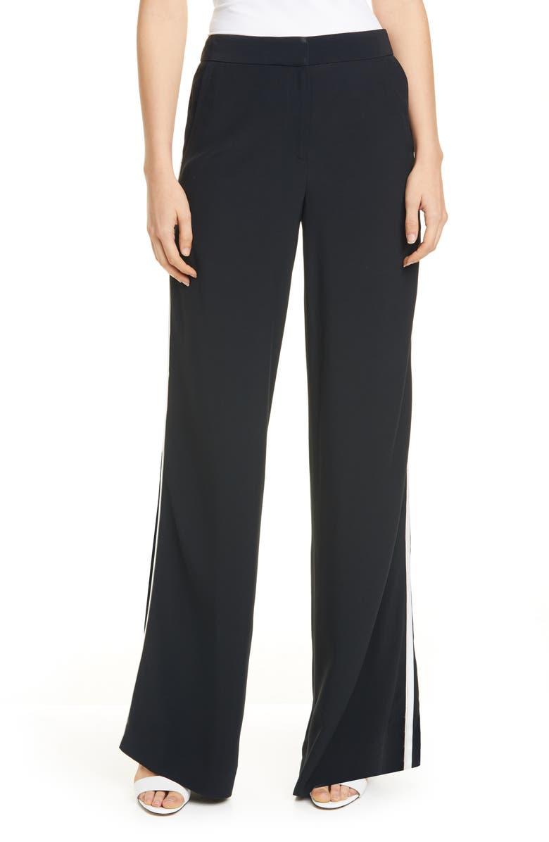LA LIGNE Le Tuxedo Pants, Main, color, BLACK/ WHITE