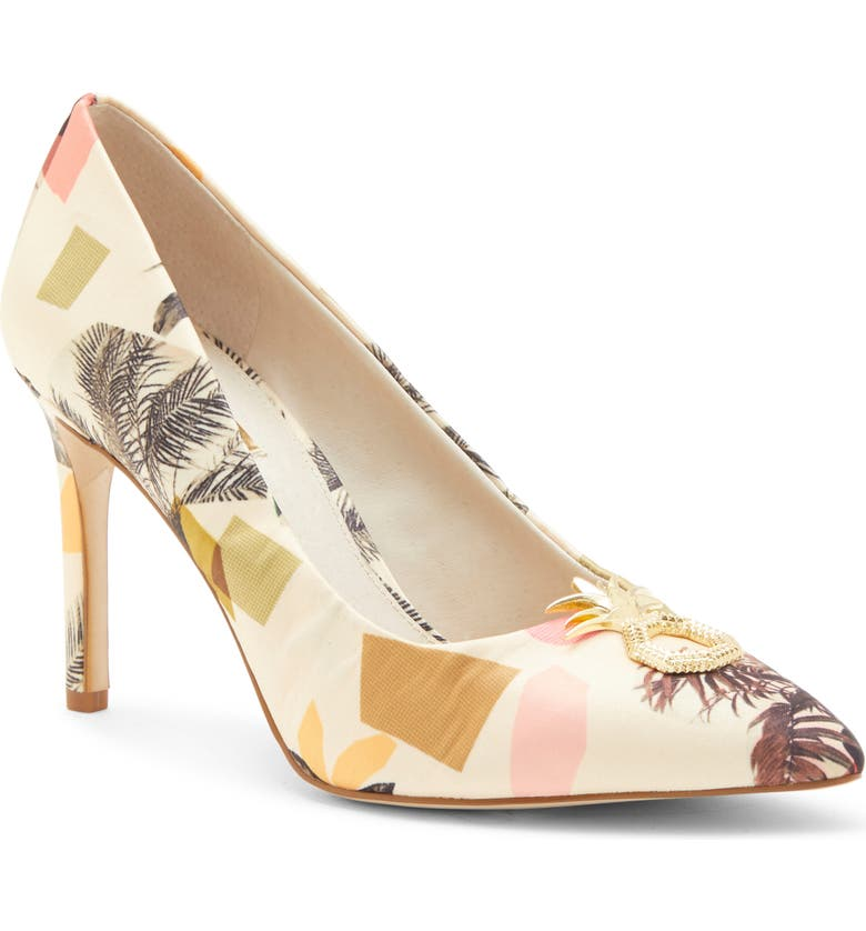 LOUISE ET CIE Hanalee Pump, Main, color, MULTI COLOR FABRIC