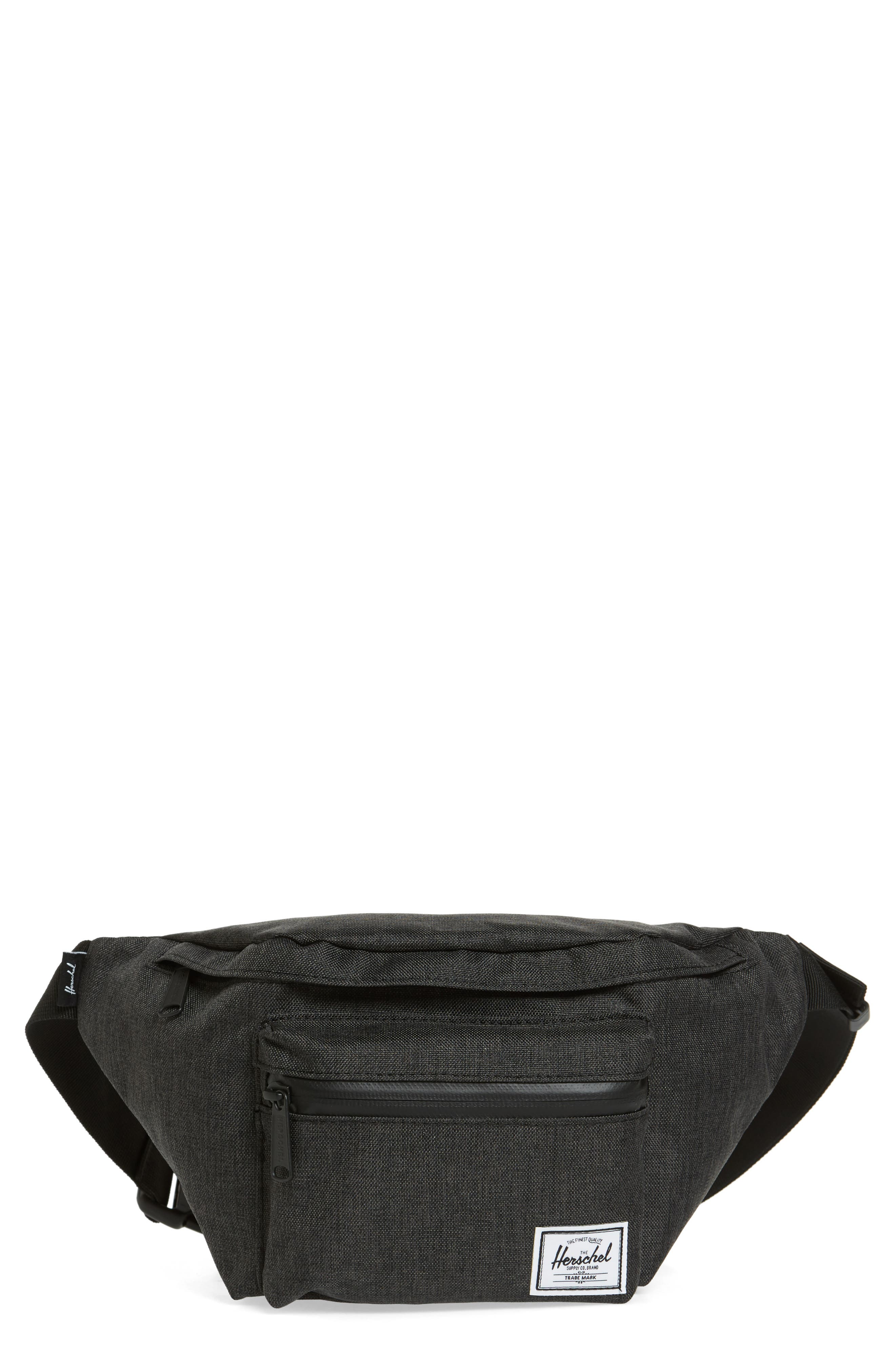 Seventeen Hip Pack, Main, color, BLACK CROSSHATCH
