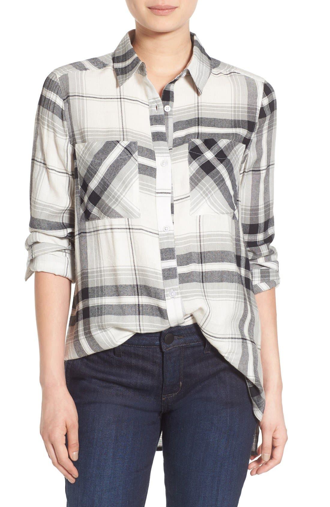 ,                             Plaid Tunic Shirt,                             Main thumbnail 38, color,                             900