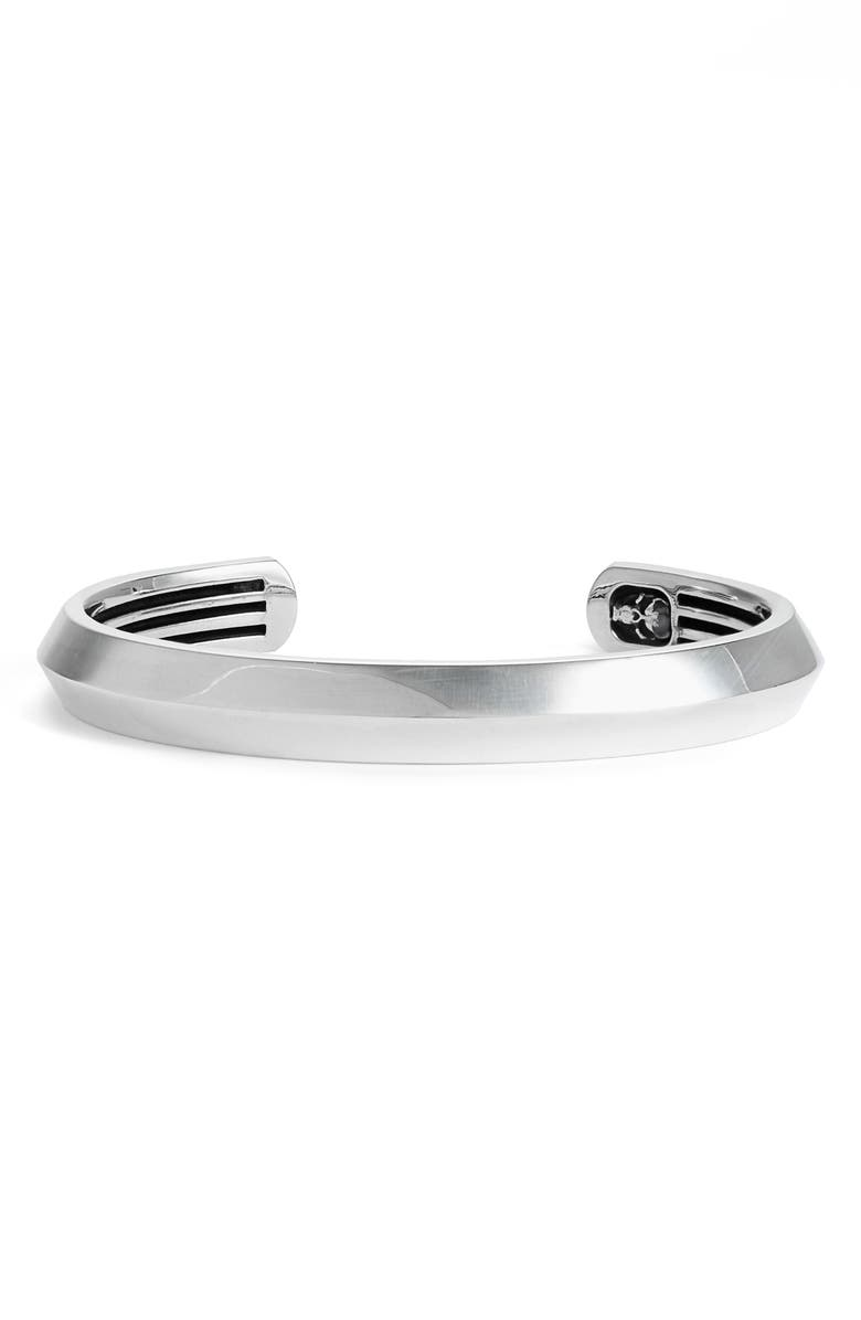 ROOM101 Room 101 Sterling Silver Cuff Bracelet, Main, color, SILVER