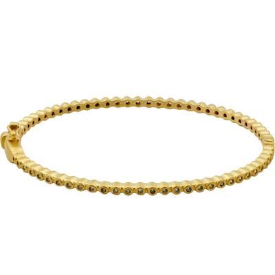 Freida Rothman Signature Bevel Pave Hinge Bangle Bracelet