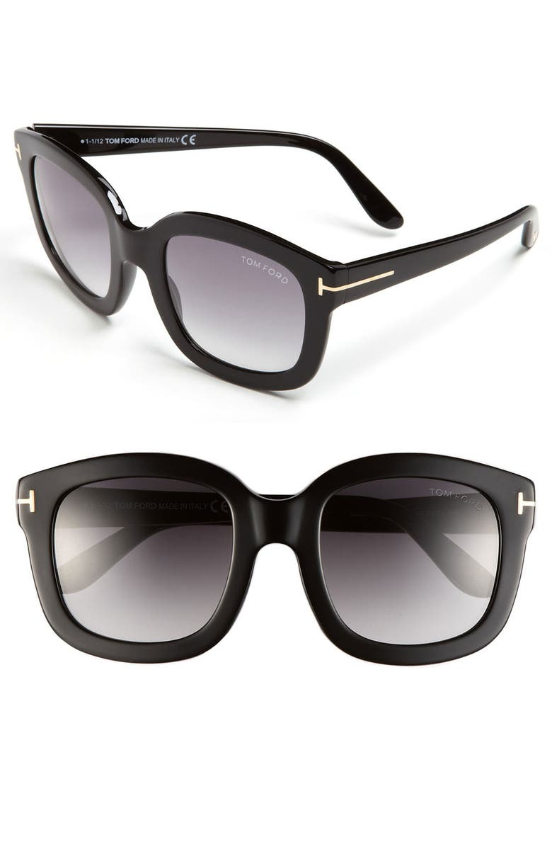 TOM FORD 'Christophe' 53mm Sunglasses, Main, color, 001