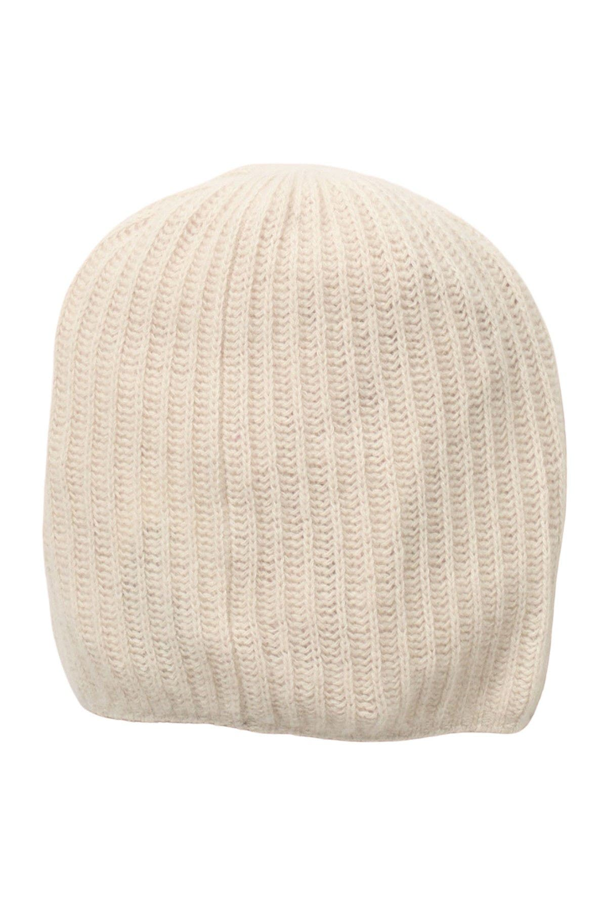 Image of Portolano Rib Knit Cashmere Beanie