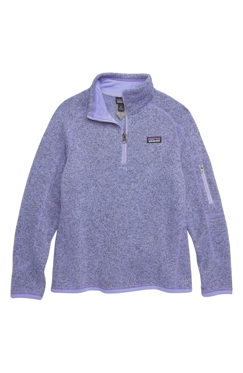 PATAGONIA Better Sweater Quarter Zip Pullover, Main, color, 405