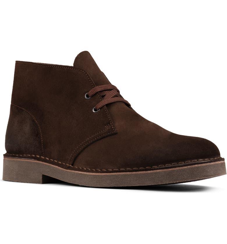 CLARKS<SUP>®</SUP> Desert 2 Chukka Boot, Main, color, DARK BROWN SUEDE