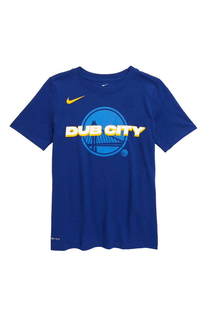 NIKE NBA Golden State Warriors Mantra Dri-FIT Graphic T-Shirt, Main, color, RUSH BLUE