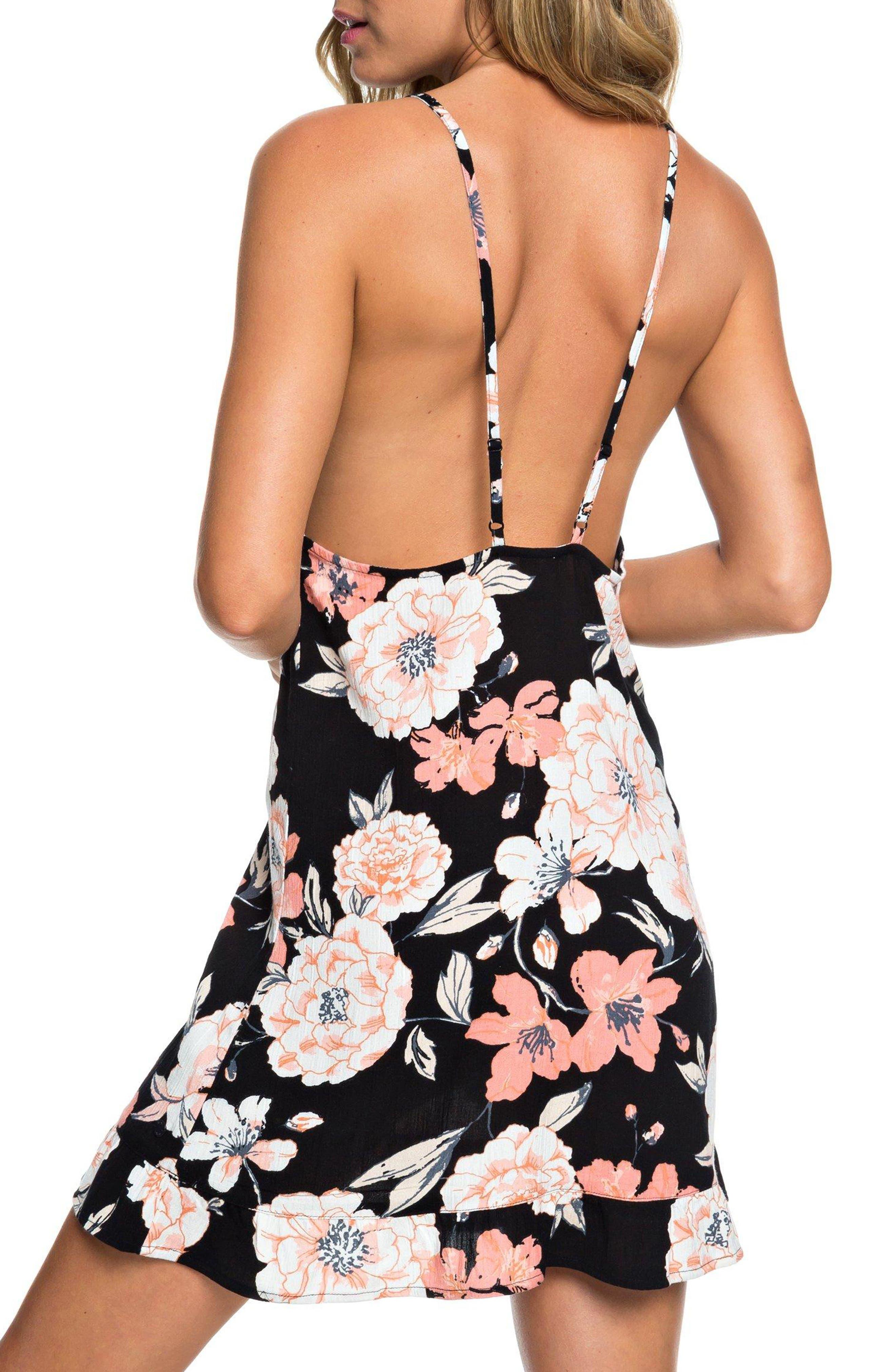 Roxy Dresses Golden Skin Floral Print Minidress