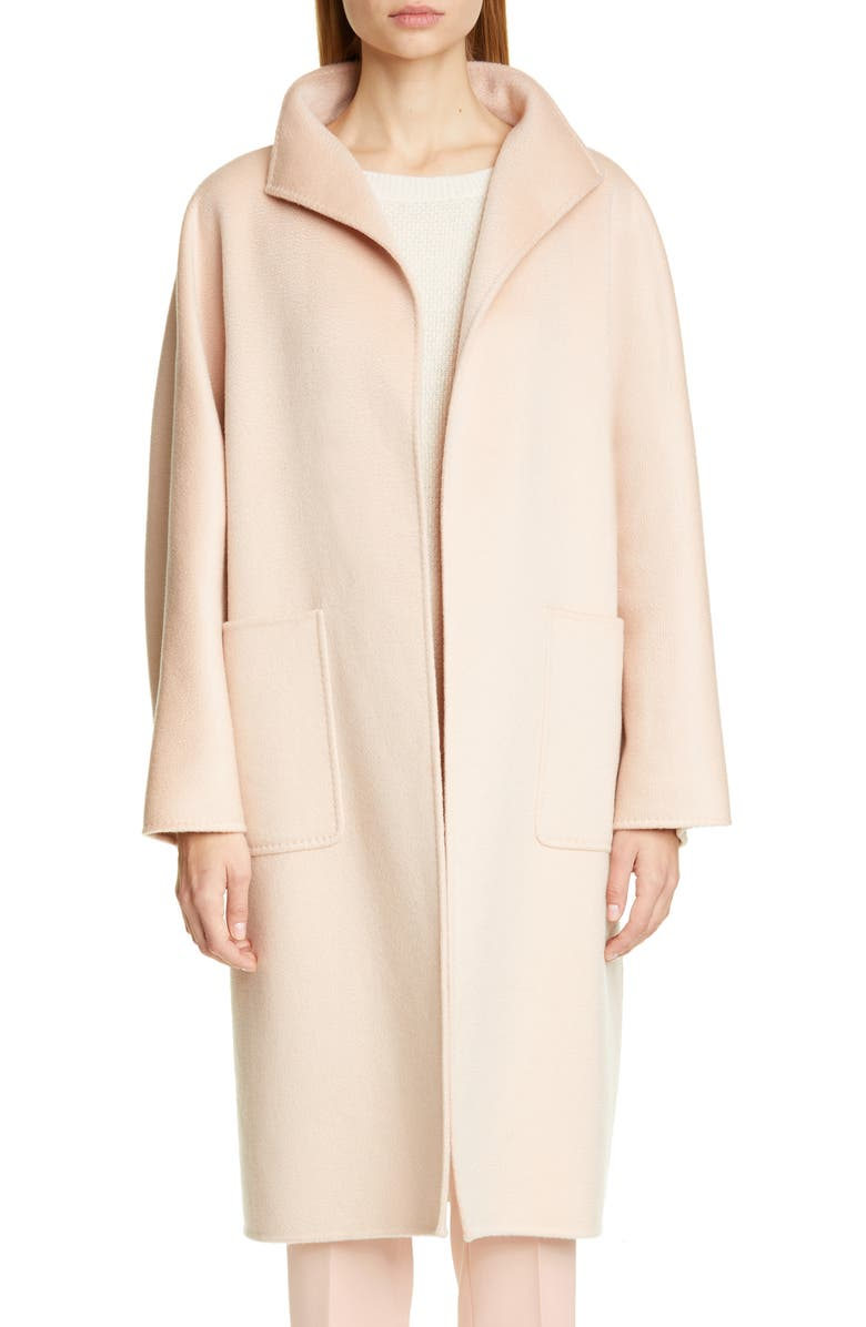 MAX MARA Lilia Double Face Cashmere Car Coat, Main, color, PINK