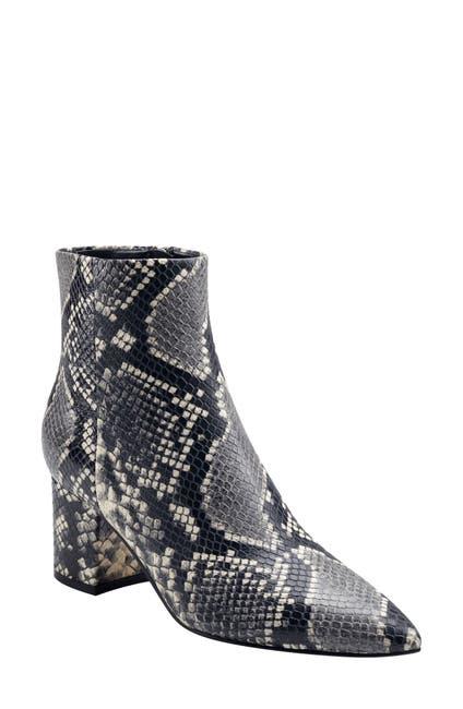 Image of Marc Fisher LTD Jarli3 Croc Embossed Leather Ankle Boot