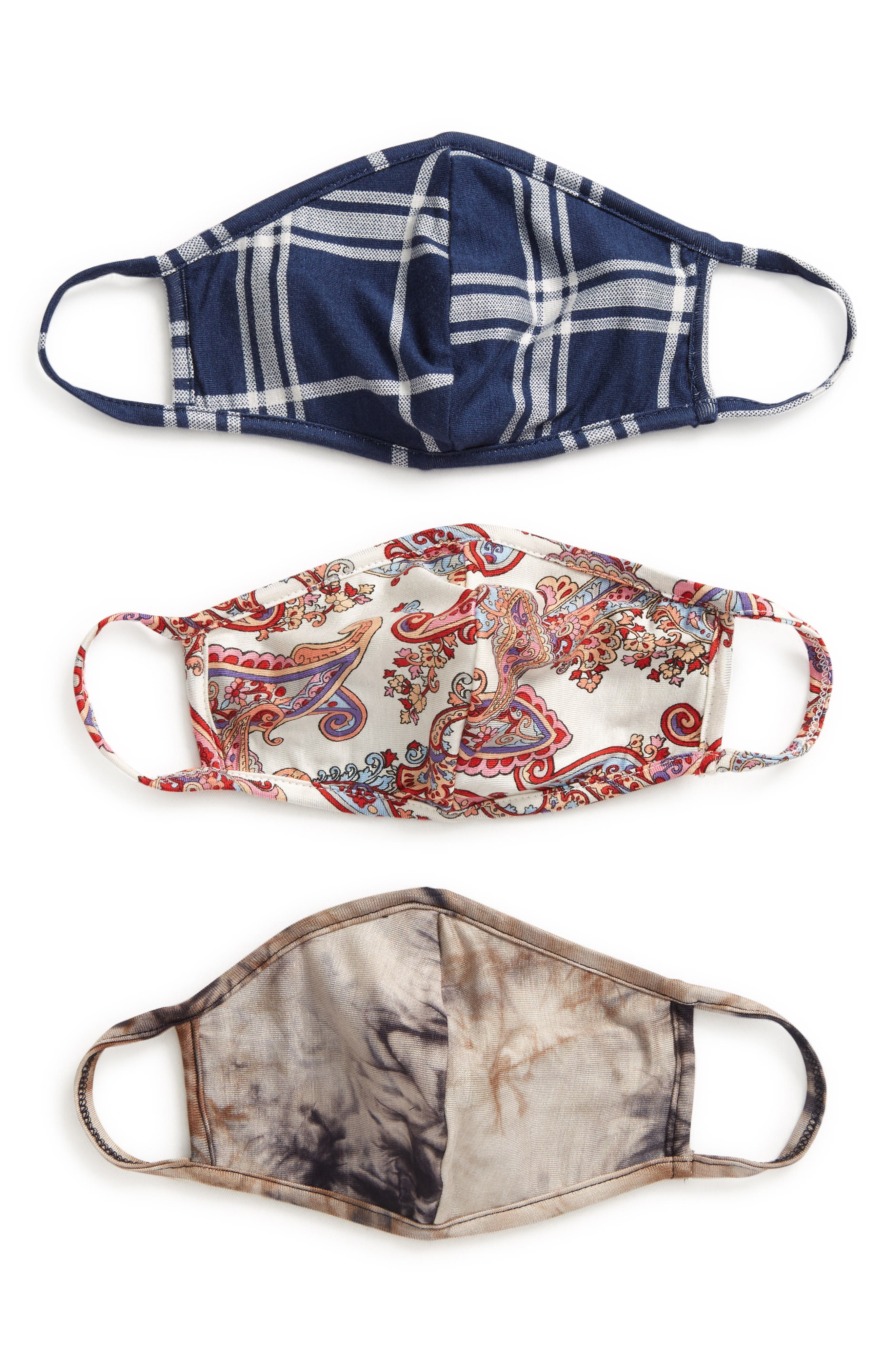 3-Pack Adult Face Masks