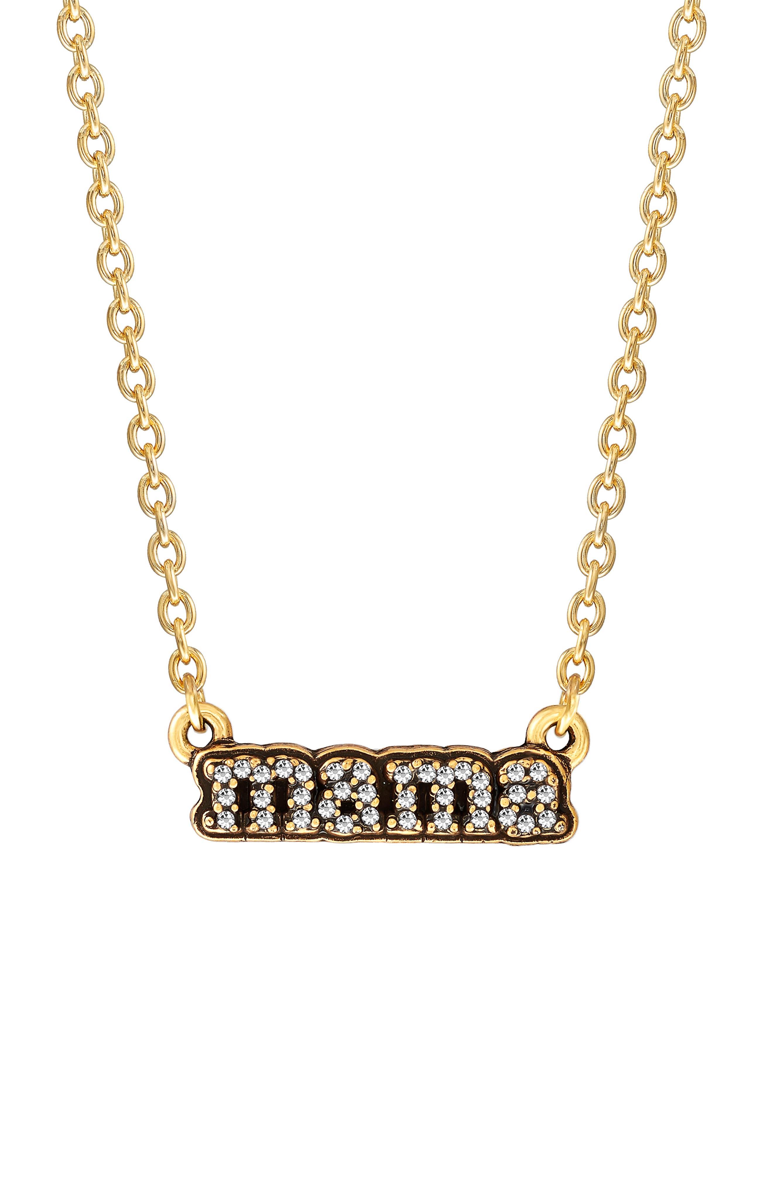 Women's Luca + Danni Pave Mama Pendant Necklace