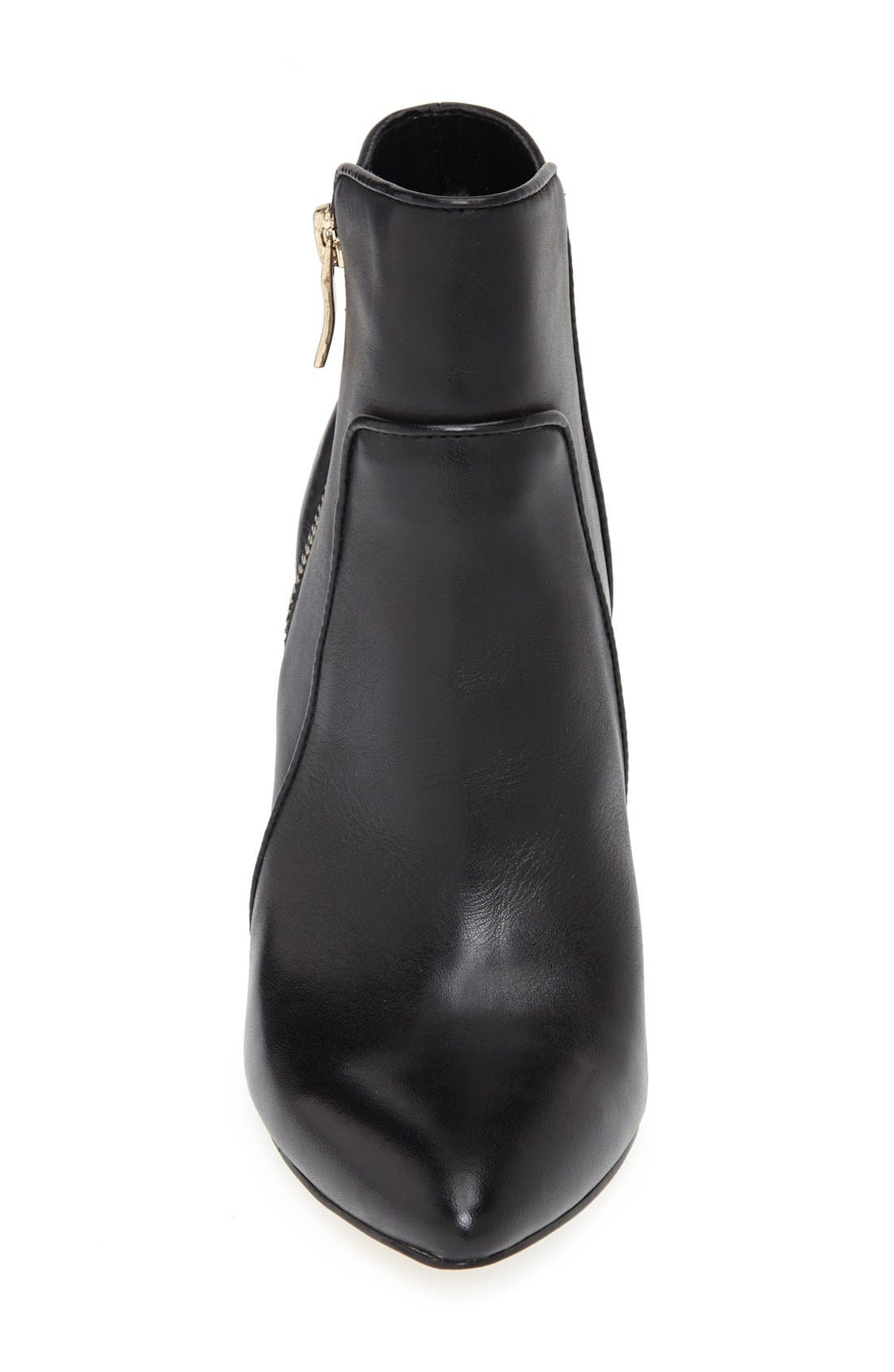 ,                             'Jules' Pointy Toe Leather Bootie,                             Alternate thumbnail 4, color,                             002