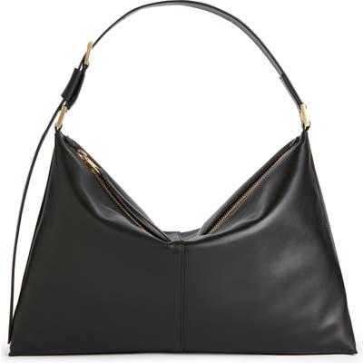 Allsaints Edbury Leather Shoulder Bag - Black