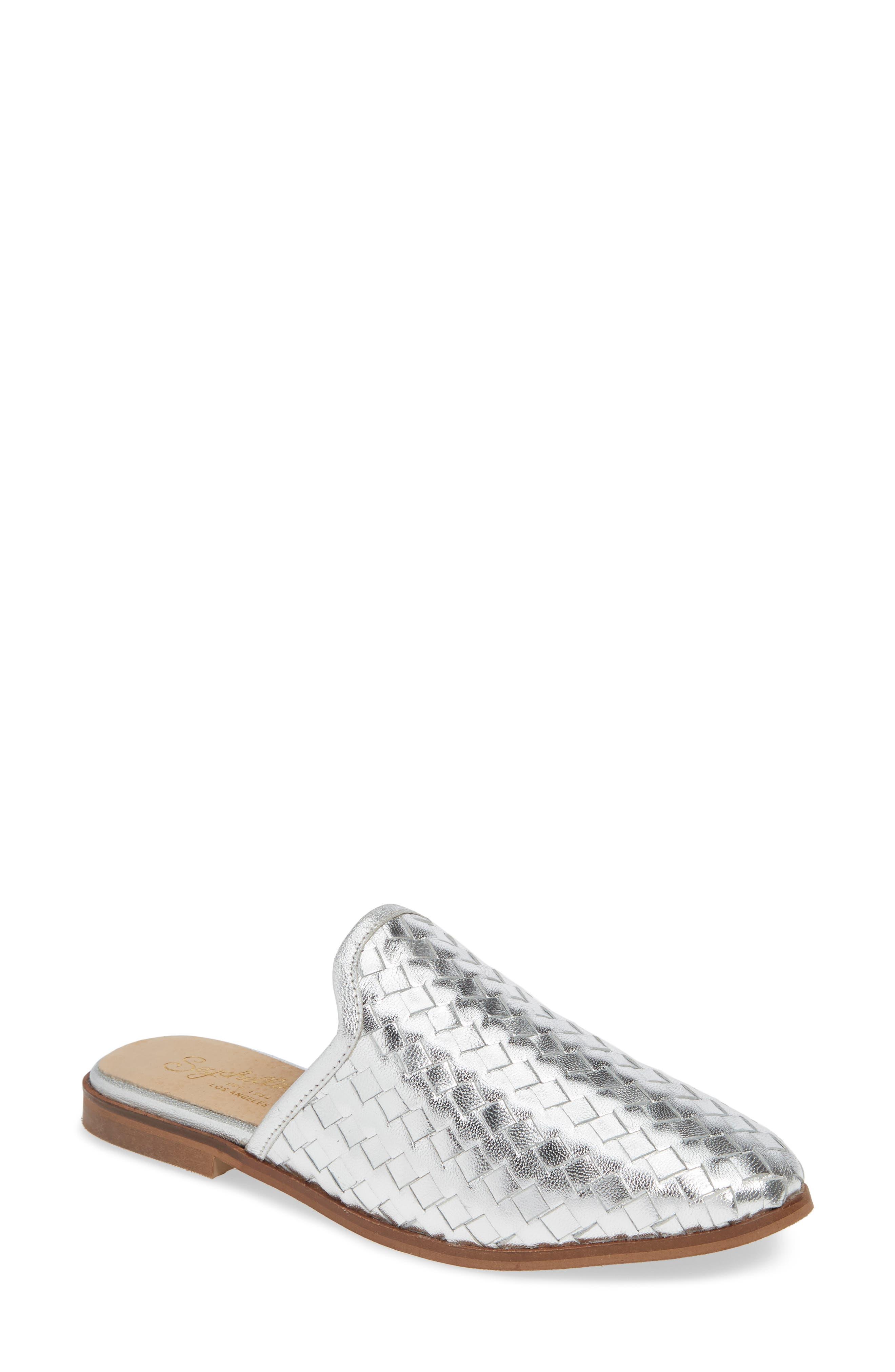 Seychelles Knickknack Woven Loafer Mule, Metallic