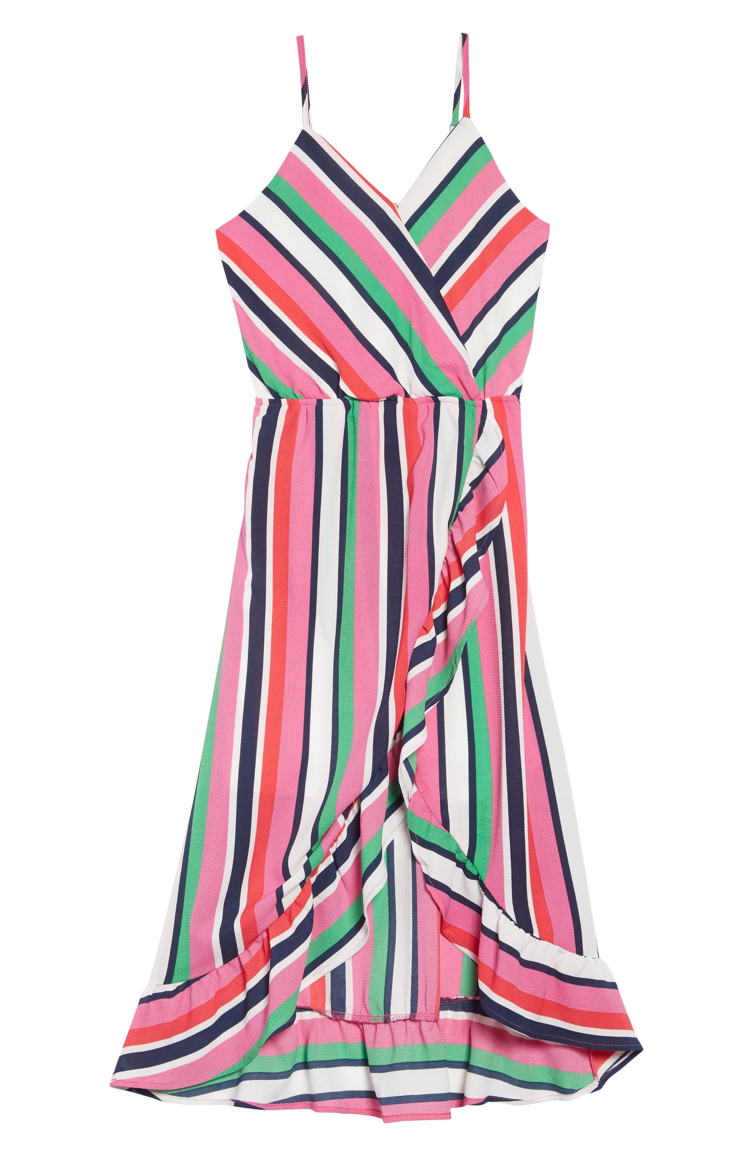 Stripe Maxi Dress, Main, color, PINK MULTI