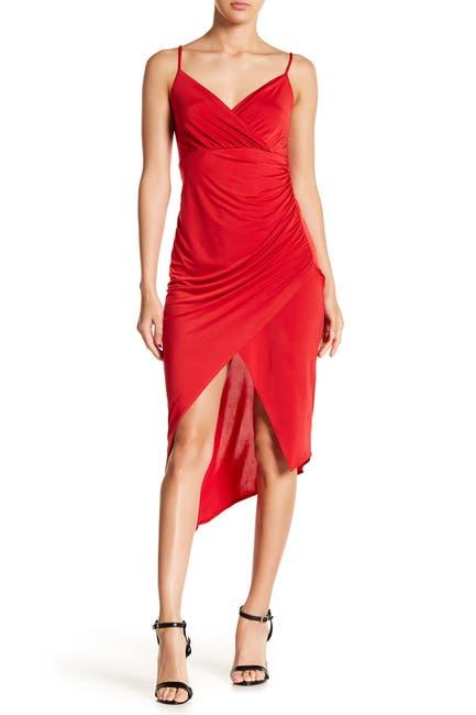 Image of bebe Surplice Hi-Lo Cami Dress