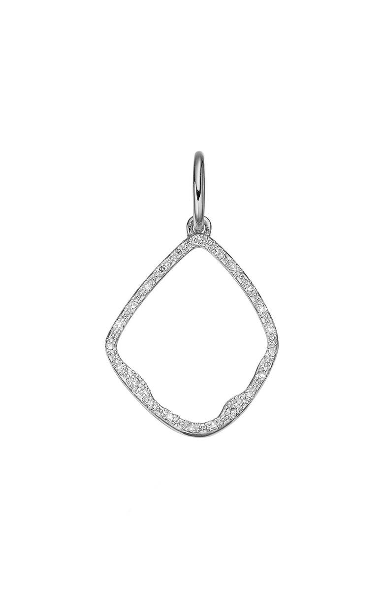 MONICA VINADER Riva Diamond Hoop Pendant Charm, Main, color, SILVER
