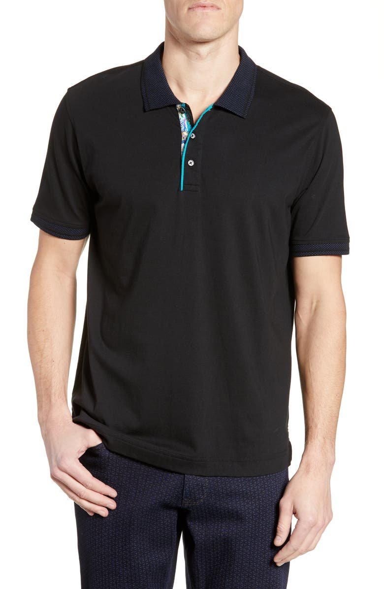 ROBERT GRAHAM Jersey Polo, Main, color, 001