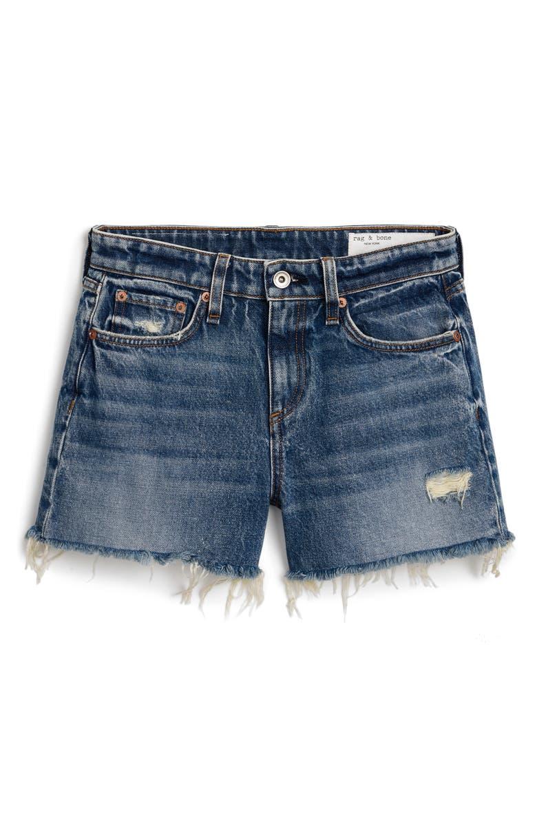 RAG & BONE Dre High Waist Denim Shorts, Main, color, NORWALK