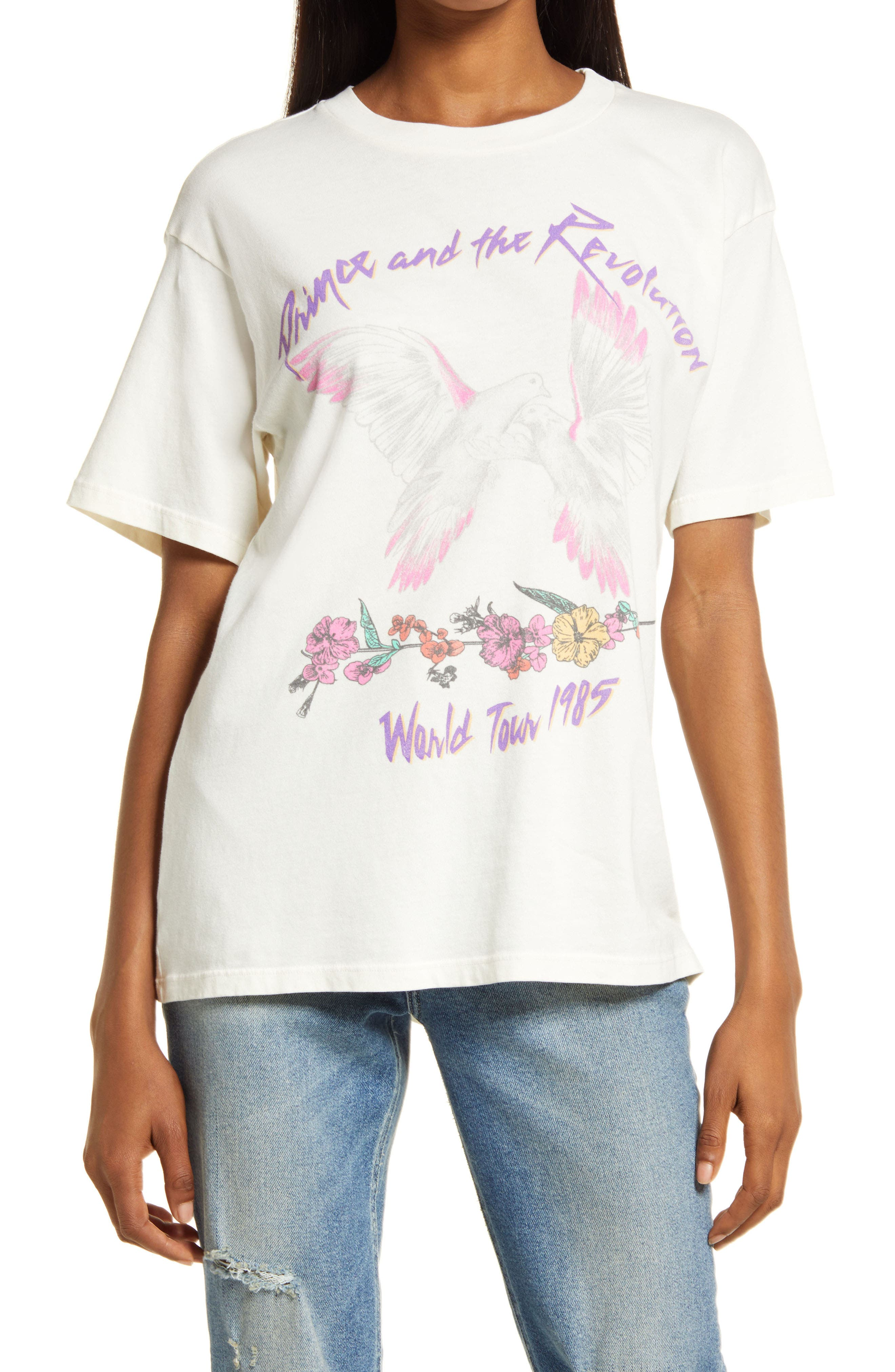 Prince World Tour 1985 Weekend Cotton Graphic Tee