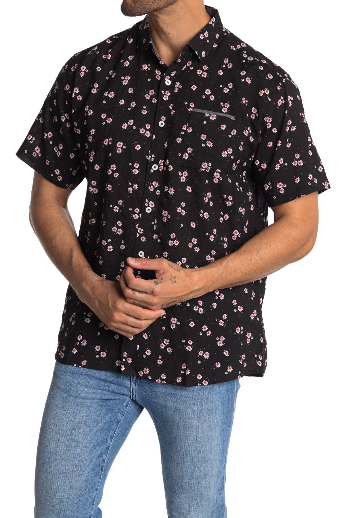 Image of IMPATIENT WOLVES Broken Night Printed Button Down Shirt