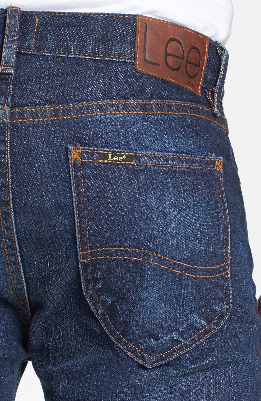 ,                             'Lean' Straight Leg Jeans,                             Alternate thumbnail 2, color,                             401