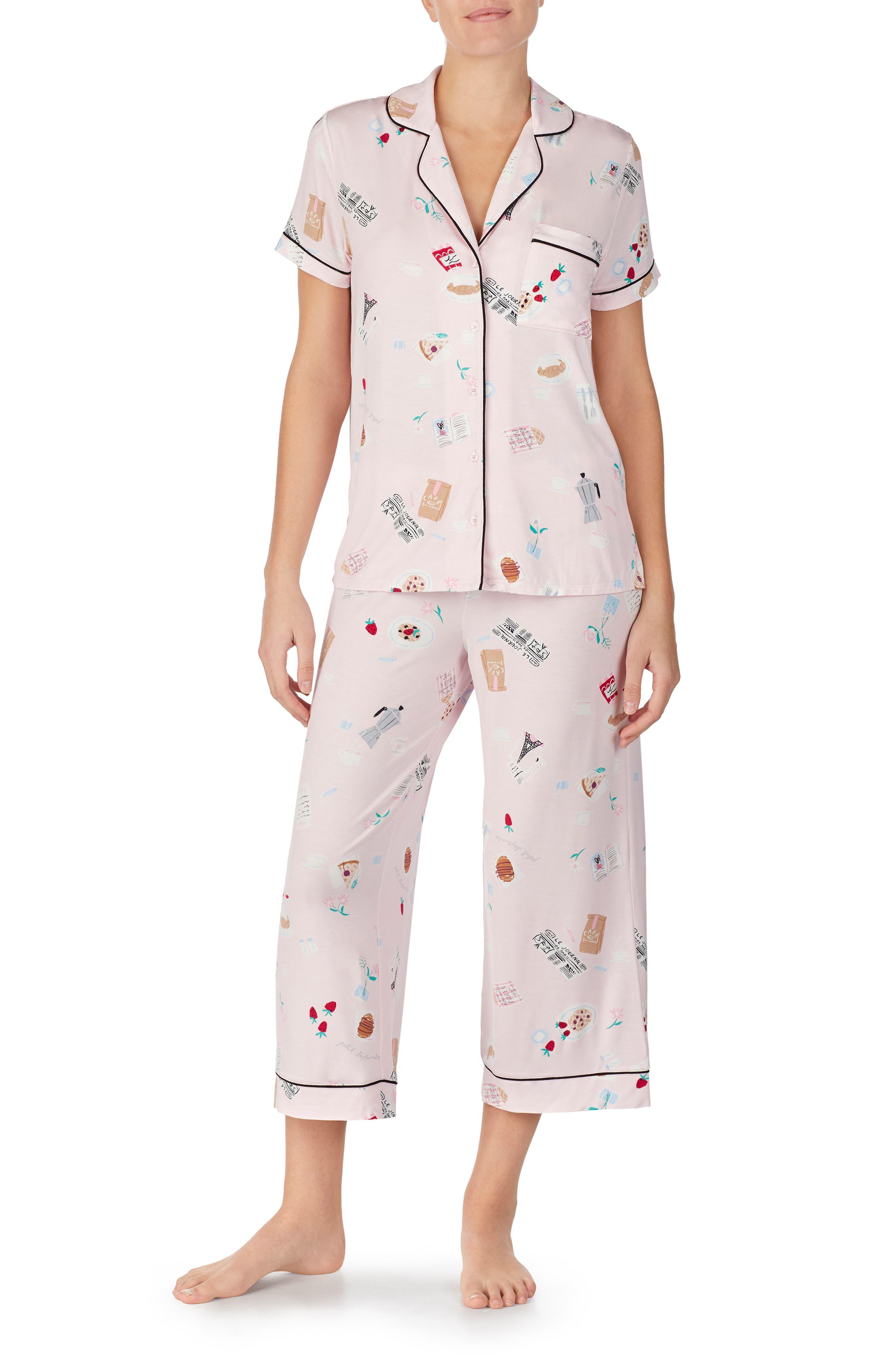 ,                             crop pajamas,                             Main thumbnail 1, color,                             PARISIAN BREAKFAST