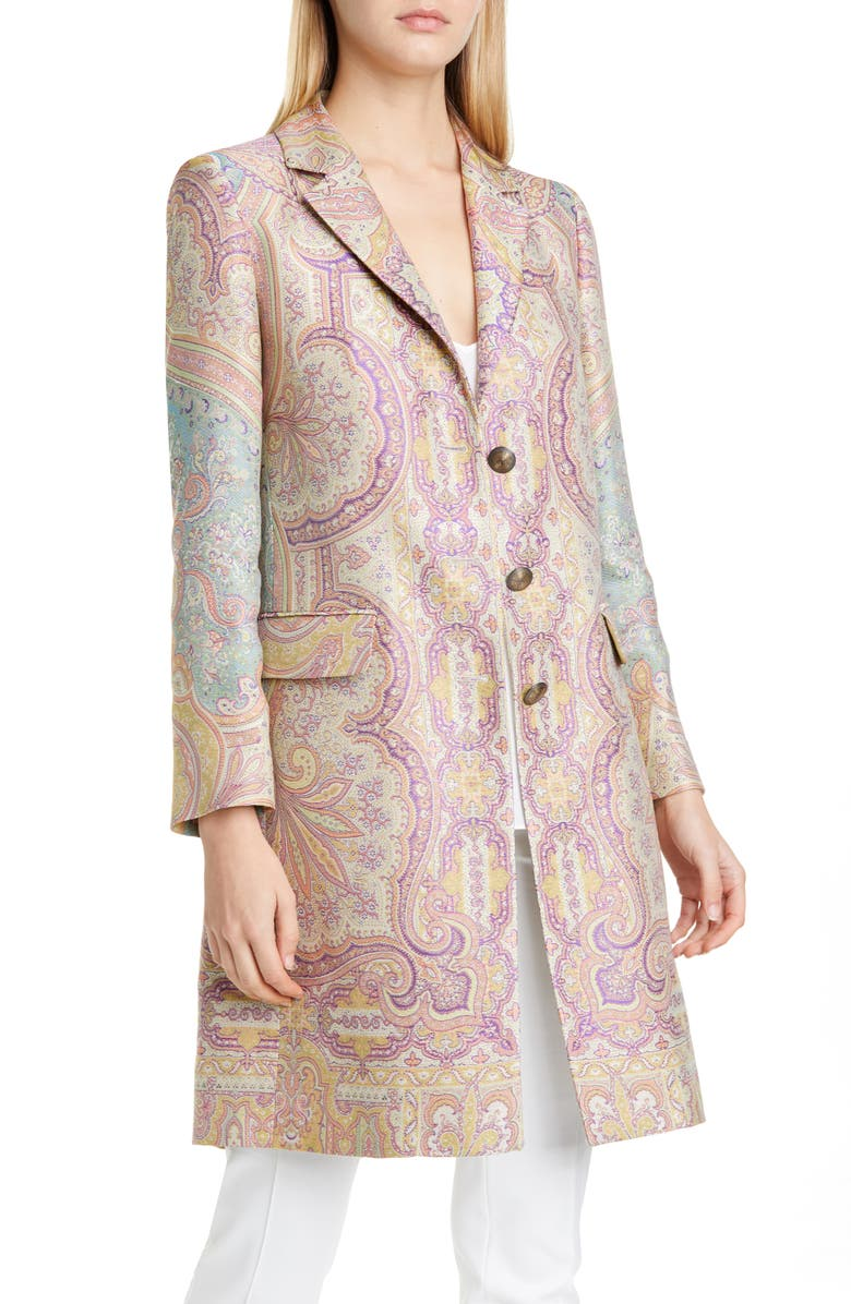 ETRO Paisley Jacquard Jacket, Main, color, GREEN