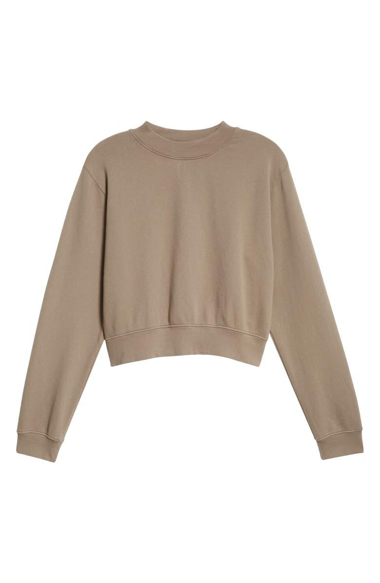 COTTON CITIZEN Milan Tie Dye Crop Sweatshirt, Main, color, ASH