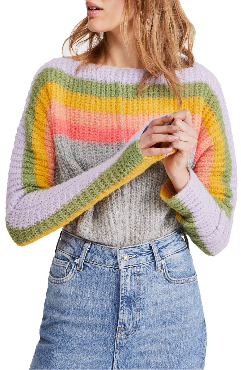 FREE PEOPLE See the Rainbow Sweater, Main, color, GREY