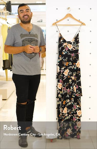 Berlin Floral Tiered Crepe Maxi Dress, sales video thumbnail