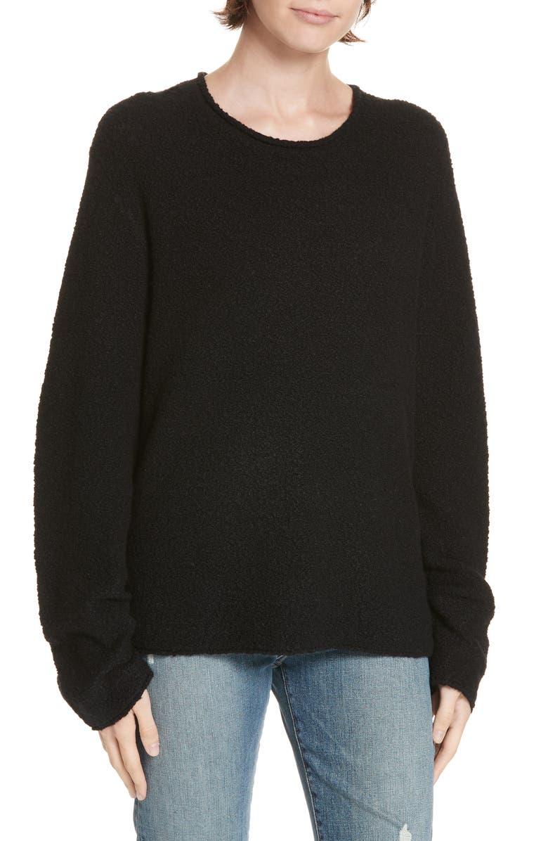 JENNI KAYNE Bouclé Crewneck Sweater, Main, color, 001