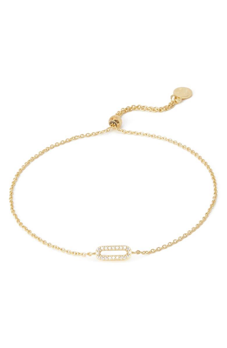 GORJANA Parker Shimmer Bracelet, Main, color, WHITE CZ