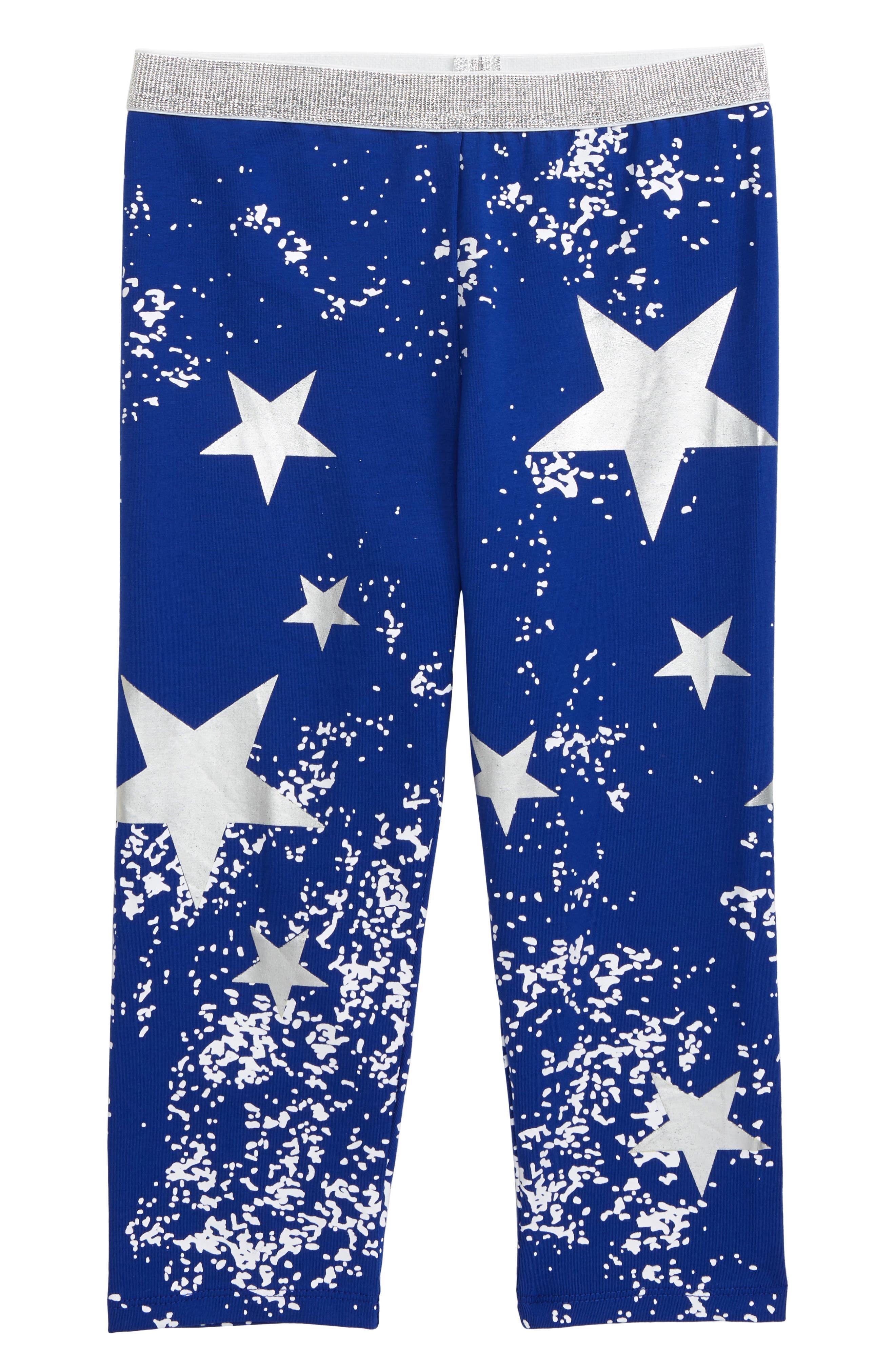 Toddler Girls Truly Me Star Print Capri Leggings Size 3T  Blue