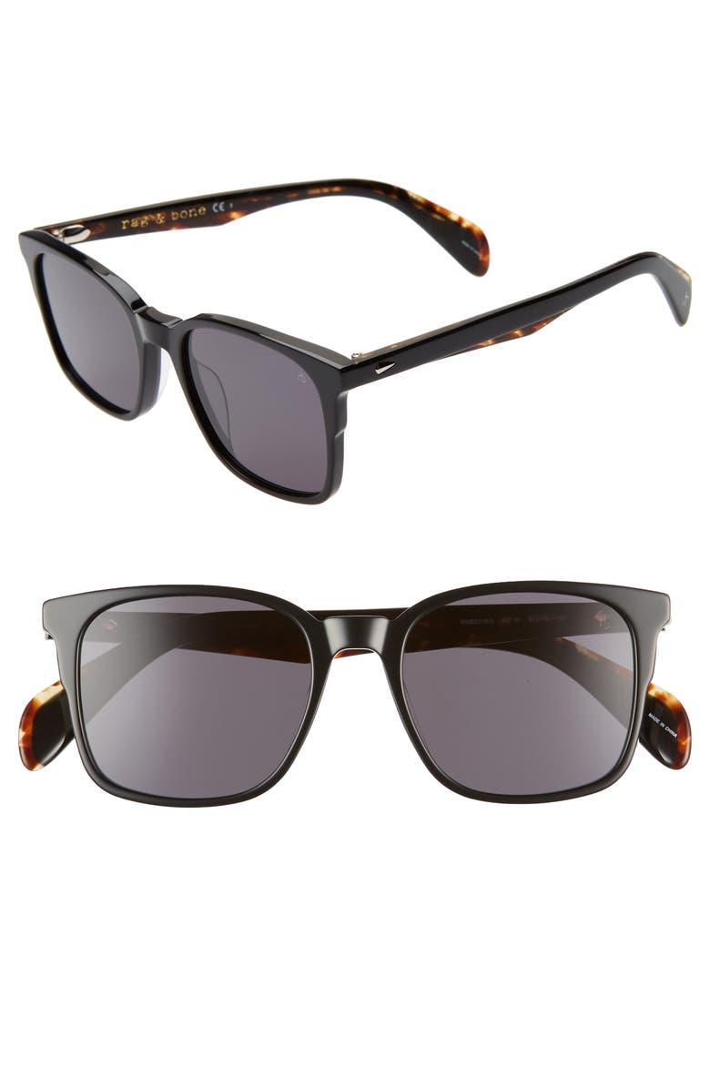 RAG & BONE 52mm Retro Sunglasses, Main, color, 001