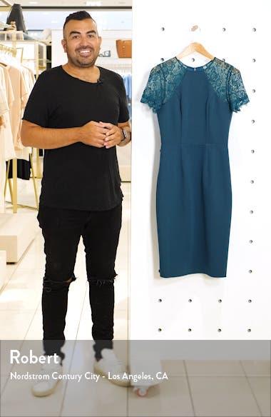Tia Crepe & Lace Cocktail Dress, sales video thumbnail