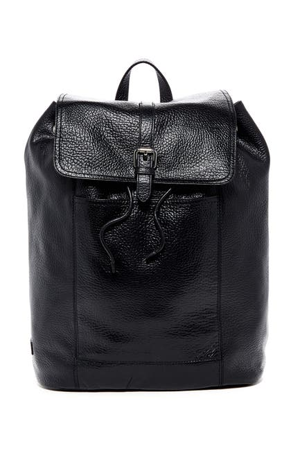 Image of Cole Haan Leather Flap Backpack